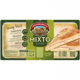 Sándwich mixto relleno de jamón y queso Casa Tarradellas pack de 2 unidades de 140 g.