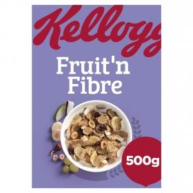 Cereales de trigo integral con pasas, coco, plátano, manzana y avellanas All Bran Kellogg's 500 g.