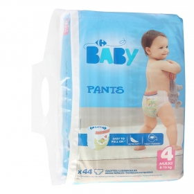 Pants Carrefour Baby Talla 4 (8-15 Kg) 44 uds