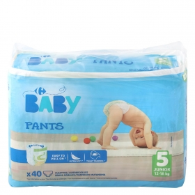 Pants Carrefour Baby Talla 5 Junior (12-18 Kg) 40 uds
