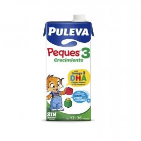 Leche infantil de continuación 3 de 12 a 36 meses sin azúcar añadido Puleva Peques 1 l.