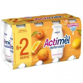 Yogur L.Casei líquido con frutos cítricos Danone Actimel sin gluten pack de 8 unidades de 100 g.