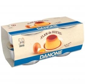 Flan de huevo Danone sin gluten pack de 4 unidades de 100 g.