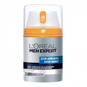Crema hidratante anti-arrugas de expresión L'Oréal-Men Expert 50 ml.
