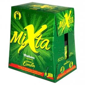 Cerveza Mahou Mixta Shandy con limón pack de 6 botellas de 25 cl.