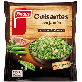 Guisantes con jamón Findus Verdeliss 450 g.