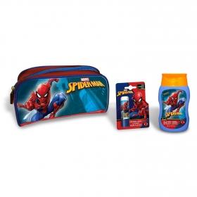 Neceser Spiderman: Gel - Champú 475 ml y bálsamo labial 1 ud