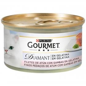 Purina Gourmet Diamant Comida Húmeda para Gato Delicias en Gelatina Atun 85g