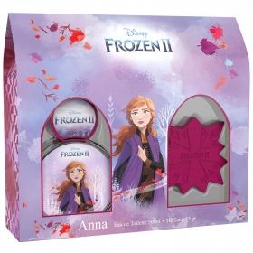 Estuche Frozen II Anna: Colonia 50 ml y Jabón 3D 55 g
