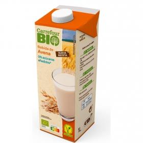 Bebida de avena con calcio sin azúcar añadido ecológica Carrefour Bio 1 l.