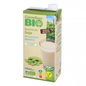 Bebida de soja sin azúcar añadido ecológica Carrefour Bio sin gluten 1 l.