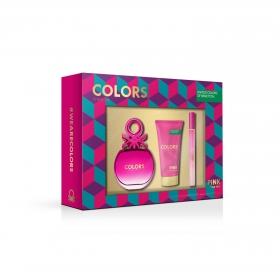 Estuche Colors de Benetton Pink For Her: Colonia 80 ml y Desodorante 150 ml.