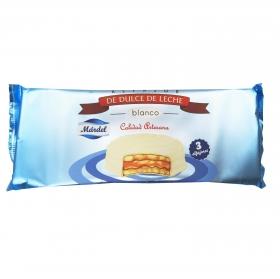 Alfajores de dulce de leche blanco Mardel 150 g.