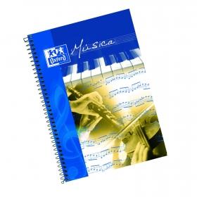 Cuaderno Música Folio 20H Pentagrama Oxford School