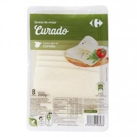 Queso en lonchas de oveja Carrefour 200 g.