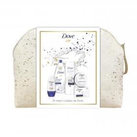 Neceser Dove: gel de ducha 500 ml, body milk 400 ml, desodorante 50 ml, jabón manos 100 g y crema 75 ml