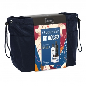 Organizador de bolso Tresemme: Champú 500 ml, Acondicionador 235 ml y Mascarilla Hidratante 500 ml
