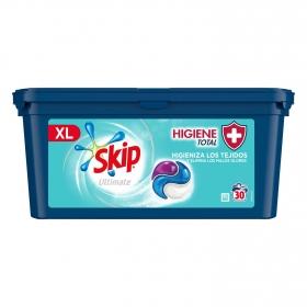 Detergente en cápsulas higiene total XL ultimate Skip 30 lavados.