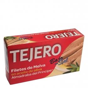 Filetes de melva en aceite de oliva y bajo en sal Tejero 78 g.