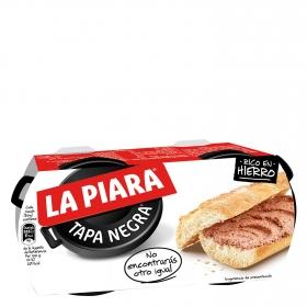 Paté de hígado de cerdo Tapa Negra La Piara 230 g.
