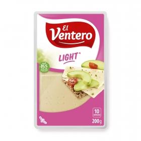 Queso tierno light en lonchas El Ventero 200 g.