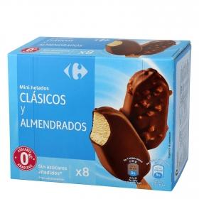 Mini bombón helado cláscio y almendrado Carrefour 8 ud.