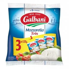 Queso mozzarella Tris pack de 3 ud de 125 g.