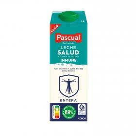 Leche entera Salud Pascual brik 1 l.