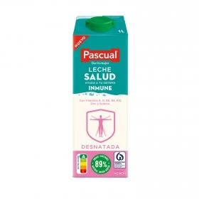 Leche desnatada Salud Pascual brik 1 l.