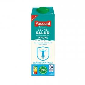 Leche semidesnatada Salud Pascual brik 1 l.