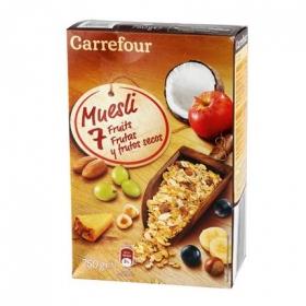 Cereales con frutas y frutos secos Muesli Carrefour 750 g.