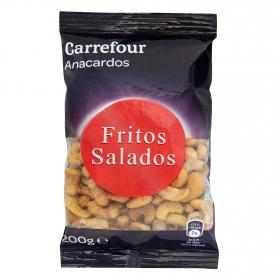 Anacardos fritos y salados Carrefour 200 g.