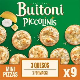 Piccolinis 3 quesos Buitoni pack de 3 unidades de 90 g.