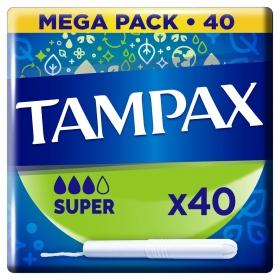 Tampones super Tampax 40 ud.