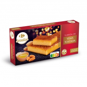 Turrón de yema tostada Carrefour sin gluten 250 g.