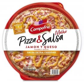 Pizza de jamón y queso Campofrío 360 g.