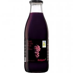 Zumo de uva roja ecológico Delizum botella 1 l.