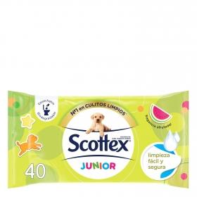 Papel higiénico húmedo Junior Recambio Scottex 40 ud.