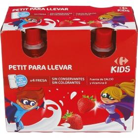 Petit de fresa Carrefour Kids en bolsitas pack de 4 unidades de 90 g.