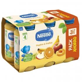 Postre Nestlé de 6 Frutas y Plátano +4m 6x250gr