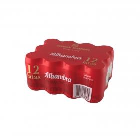 Cerveza Alhambra tradicional pack de 12 latas de 33 cl.