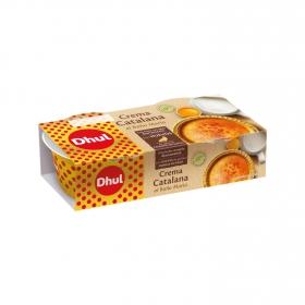 Crema catalana al Baño María Dhul sin gluten pack de 2 unidades de 100 g.