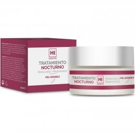 Tratamiento facial nocturno restaurador regenerador piel sensible Hi Sensitive 50 ml.