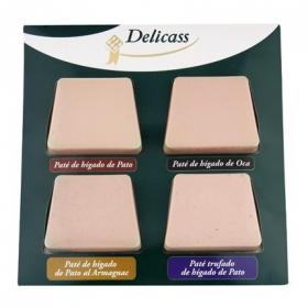 Surtido de patés Delicass pack de 4 unidades de 90 g.
