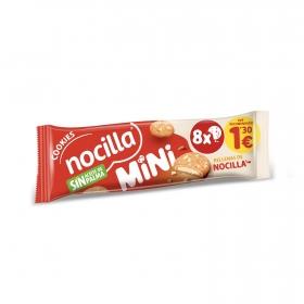 Galletas mini cookies rellenas con crema de leche Nocilla sin aceite de palma 64 g.