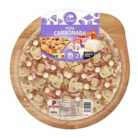 Pizza carbonara Carrefour 400 g.
