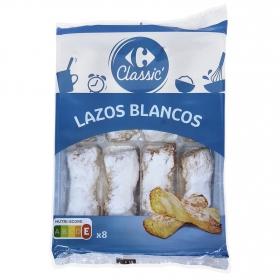 Lazos de hojaldre blancos Carrefour 9 ud.