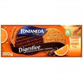 Galletas con chocolate negro y naranja Digestive Fontaneda 300 g.