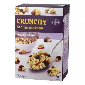 Cereales con frutas desecadas Muesli Carrefour 750 g.