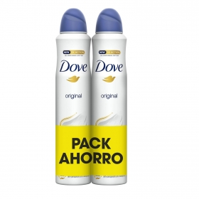 Desodorante en spray aero original Dove pack de 2 unidades de 200 ml.